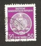 Stamps Germany -  blasón de R.D.A.