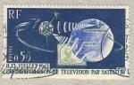 Sellos de Europa - Francia -  1�re liaison de t�l�vision par satellite 'Telstar'
