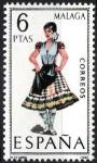 Stamps Spain -  Trajes típicos españoles. Málaga.