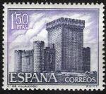 Stamps Spain -  1928 Castillos de España. Villalonso, Zamora.