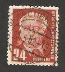 Stamps Germany -  presidente w. pieck