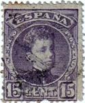 Stamps Spain -  Reinado Alfonso XIII