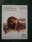 Sellos del Mundo : Asia : Laos : helarctos malayanus
