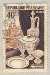 Sellos de Europa - Francia -  Productions de luxe  Porcelaine et cristaux  le Louvre