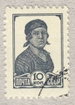 Stamps Russia -  mujer