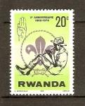Sellos de Africa - Rwanda -  BOY  SCOUT
