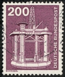 Stamps Germany -  Transportes e industria