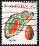Sellos de Oceania - Australia -  Minerales - Agate