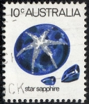 Stamps : Oceania : Australia :  Minerales - Zafiro