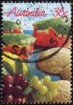 Stamps : Oceania : Australia :  Frutas
