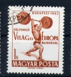 Stamps of the world : Hungary :  Juegos europeos Halterofilia