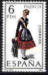 Stamps Spain -  Trajes típicos españoles. Palencia.
