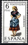Sellos de Europa - España -  Trajes típicos españoles. Pontevedra.