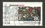 Stamps Germany -  monumentos proteguidos, vidriera de la catedral de augsburg