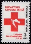 Sellos de Europa - Croacia -  Cruz y mapa