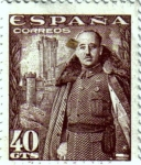 Stamps Spain -  Franco Castillo de la Mota