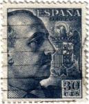 Stamps Spain -  Cid Y el general Franco