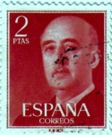 Stamps of the world : Spain :  General Franco 1955