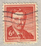 Stamps United States -  Theodore Roosevelt