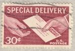 Stamps United States -  Mailman Handing Letter