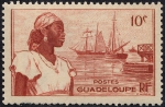 Stamps America - Guadeloupe -  Mujer y barcos