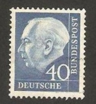Stamps Germany -  126 - Presidente Thedore Heuss