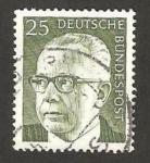 Stamps Germany -  508 - Presidente G. Heinemann