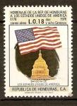 Stamps Honduras -  BANDERA  Y  CAPITOLIO