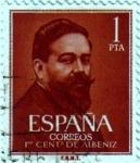 Sellos de Europa - España -  Centenario del nacimiento de Isaac Albeniz