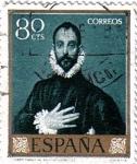 Stamps Spain -  El Greco El caballero de la mano en el pecho