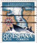 Stamps Spain -  XXV aniversario alzamiento nacional