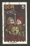 Stamps Germany -  personajes de la T.V., flax, krummel y struppi