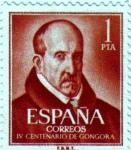 Sellos de Europa - España -  IV centenario del nacimiento de Luis Gongora y Argote