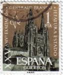 Sellos de Europa - España -  XXV Aniversario la exaltación del general Franco