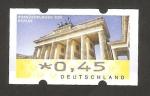 Stamps Germany -  puerta de Brandenburgo en Berlín