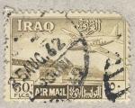 Stamps Iraq -  avion y tren