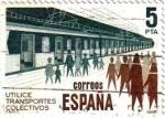 Stamps Spain -  Utilice transportes colectivos metro