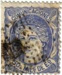 Stamps Europe - Spain -  Efigie alegorica de España Isabel II