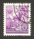 Stamps : Europe : Germany :  123 - mujer telegrafista