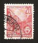 Sellos de Europa - Alemania -  191 - Avenida Stalin en Berlin