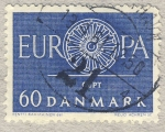 Stamps Denmark -  Europa