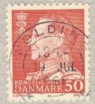 Sellos de Europa - Dinamarca -  Federico IX de Dinamarca