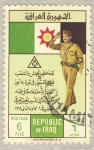 Stamps of the world : Iraq :  saludo militar sobre bandera