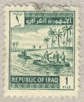 Sellos de Asia - Irak -  navegando por el rio