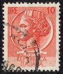 Sellos de Europa - Italia -  Moneda