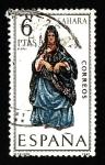 sellos de Europa - España -  Traje Tipico (SAHARA )