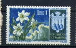 Stamps Europe - San Marino -  serie- Flores