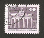 Stamps : Europe : Germany :  Puerta de Brandenburgo en Berlín