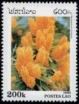 Sellos de Asia - Laos -  Flores