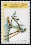 Stamps Laos -  Caballos